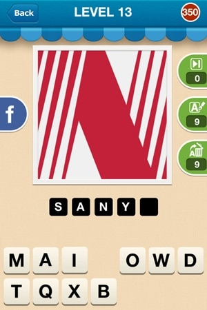 Hi Guess The Brand Answers Level 13 - 350