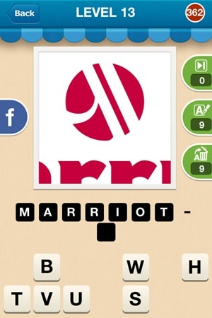 Hi Guess The Brand Answers Level 13 - 362