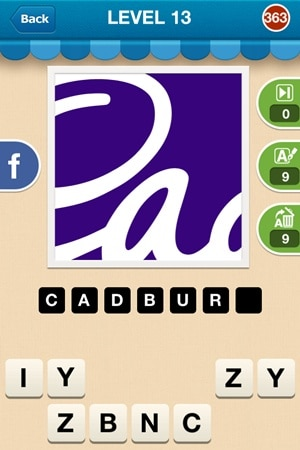 Hi Guess The Brand Answers Level 13 - 363