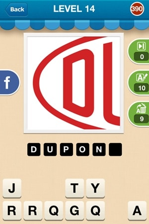 Hi Guess The Brand Answers Level 14 - 390