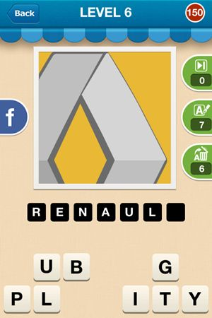 Hi Guess The Brand Level 6 Answer 150