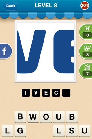 Hi Guess The Brand Level 8 Answer 204