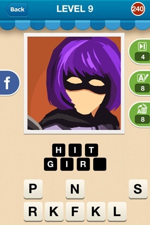 Hi Guess The Character Answers Level 9 - 240