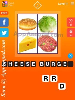 food pop level 1 - 05 answer