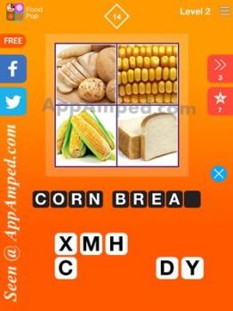 food pop level 2 - 14 answer