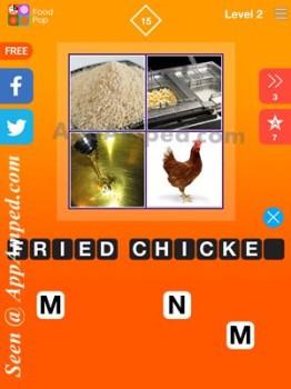 food pop level 2 - 15 answer