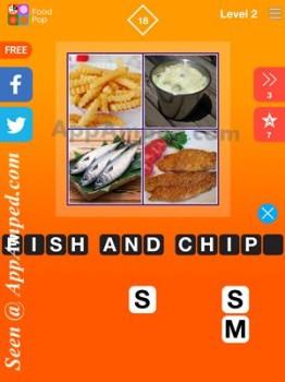 food pop level 2 - 18 answer