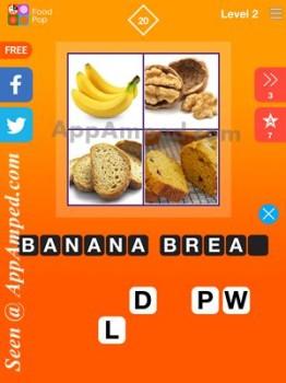 food pop level 2 - 20 answer