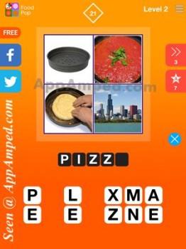 food pop level 2 - 21 answer