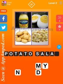 food pop level 2 - 27 answer