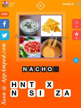 food pop level 3 - 31 answer
