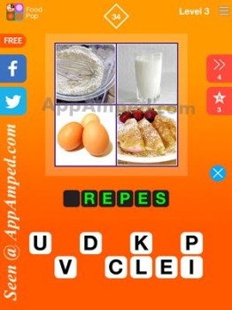 food pop level 3 - 34 answer