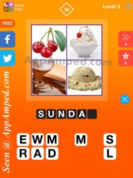 food pop level 3 - 36 answer