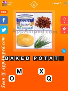 food pop level 3 - 37 answer