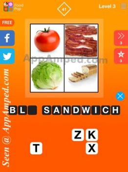 food pop level 3 - 41 answer