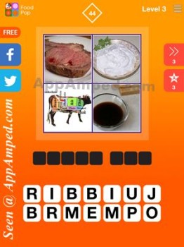 food pop level 3 - 44 answer