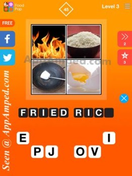 food pop level 3 - 45 answer