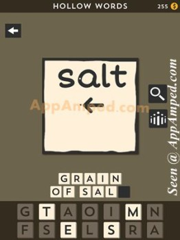 hollow words first set level 19 answer
