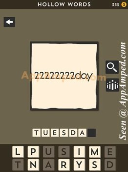 hollow words second set level 04 answer