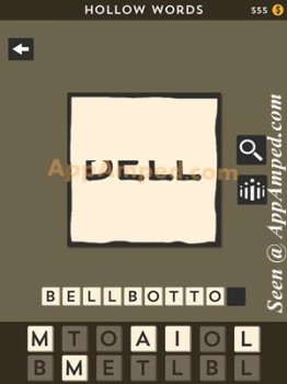 hollow words second set level 24 answer