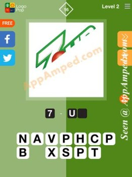 logo pop level 2 - 16 answer