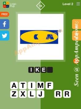 logo pop level 2 - 18 answer