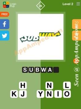 logo pop level 2 - 26 answer