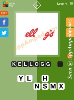 logo pop level 4 -54 answer
