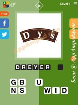 logo pop level 4 -58 answer