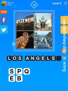 places pop level 2 - 16 answer