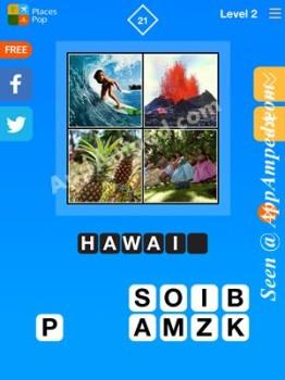 places pop level 2 - 21 answer