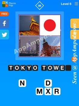 places pop level 6 - 98 answer
