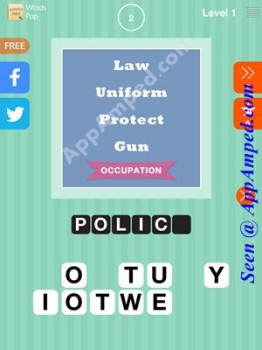 words Pop Level 1 - 02 answer