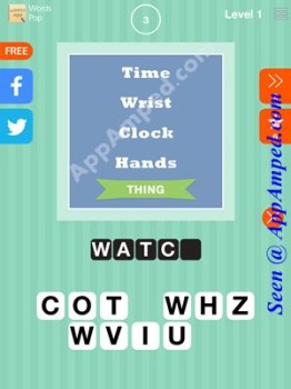 words Pop Level 1 - 03 answer