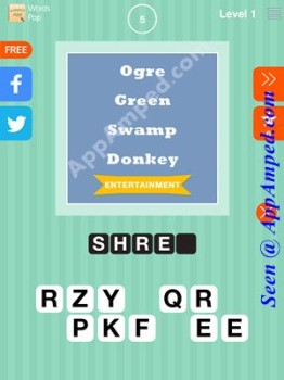 words Pop Level 1 - 05 answer