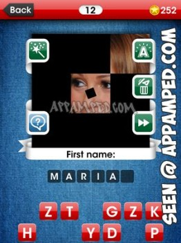 facemania answers level 12