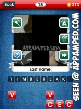 facemania answers level 15