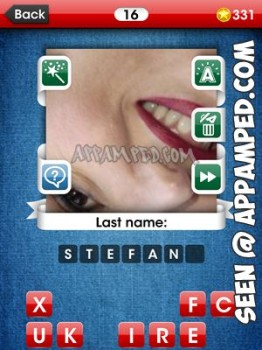 facemania answers level 16