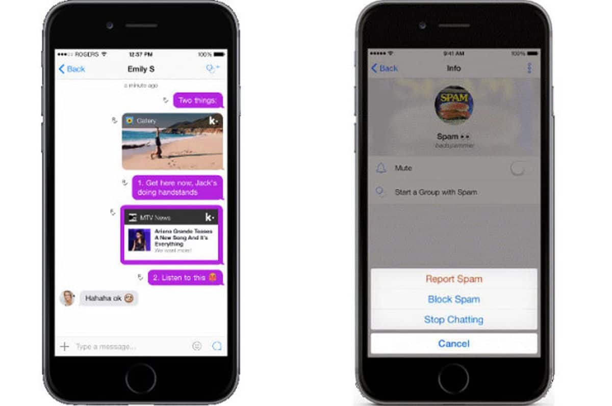 How to report spam in Kik Messenger
