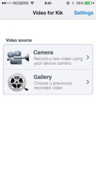 sending Videos on Kik via iphone, ipad, or iPod