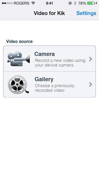 sending Videos on Kik via iphone, ipad, or iPod