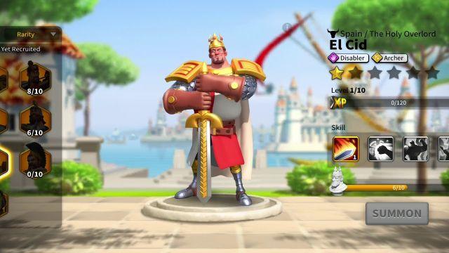 rise of kingdoms el cid