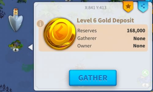 rise of kingdoms gold mine