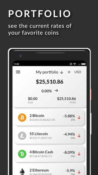 coinfolio crypto tracker