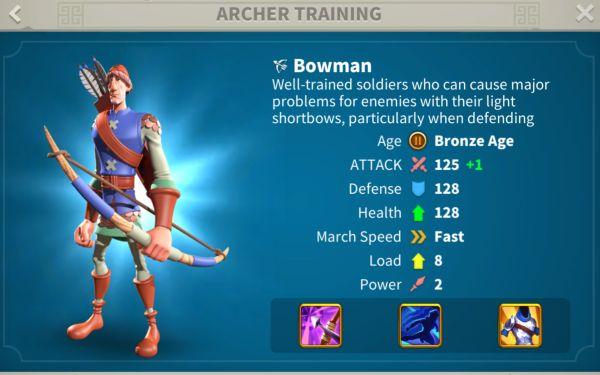 rise of kingdoms archers 2