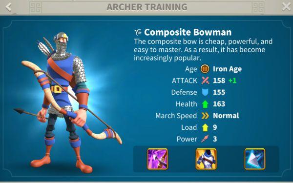 rise of kingdoms archers 3