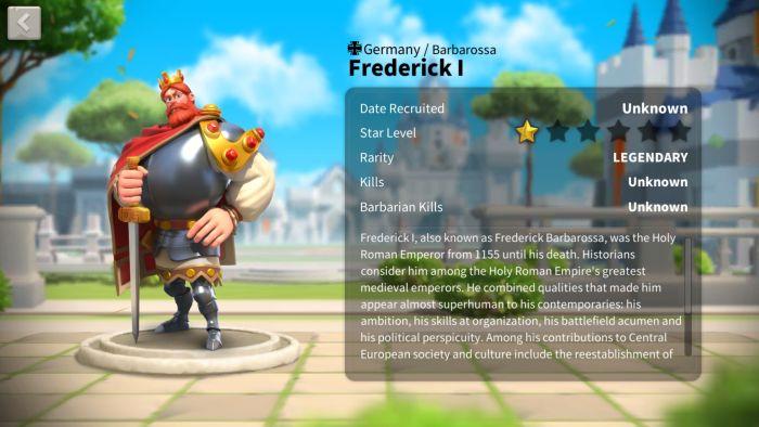 rise of kingdoms frederick