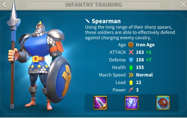 rise of kingdoms infantry 3
