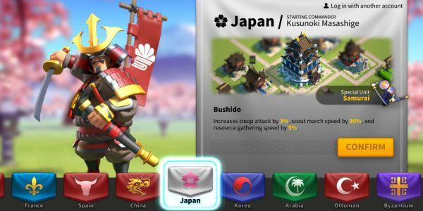 rise of kingdoms japan