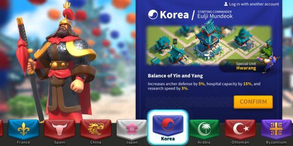rise of kingdoms korea